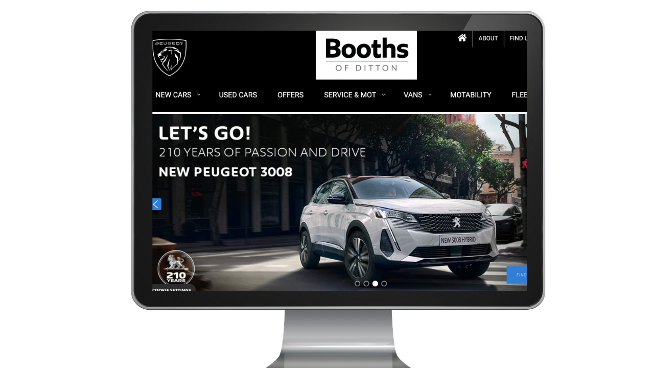 Booths home page